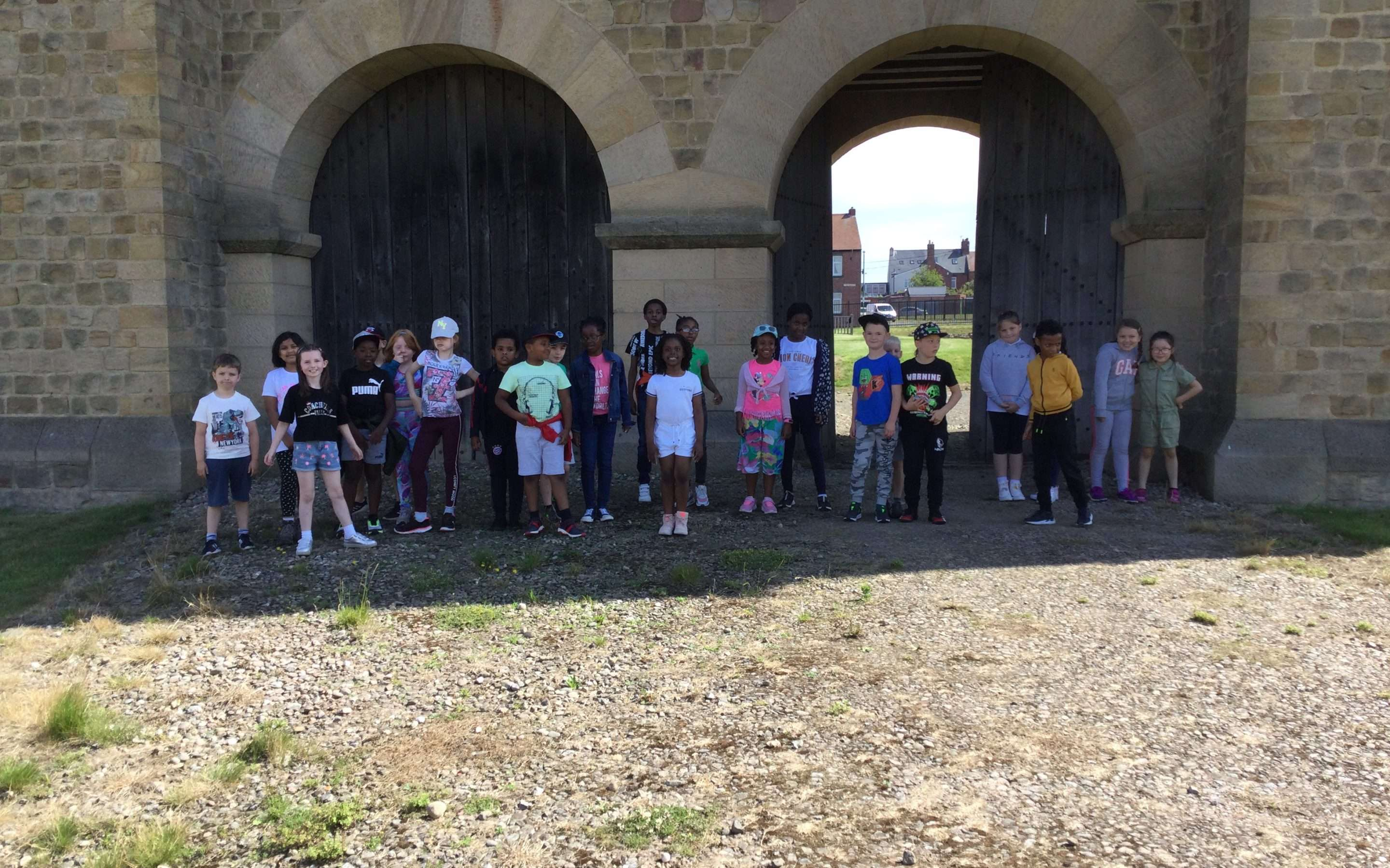 Year 3 invade Arbeia Roman Fort